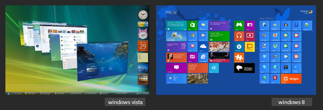 Windows vista e Windows 8