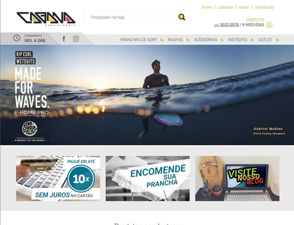e-commerce - Cabana Surf