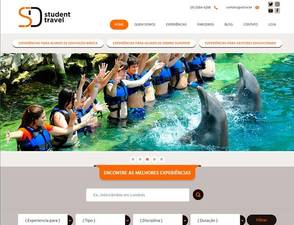 Criação de sites - SD Student Travel
